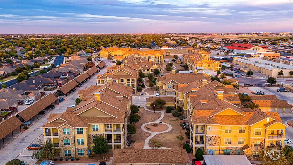 aerial view of Blue Ridge Apartments