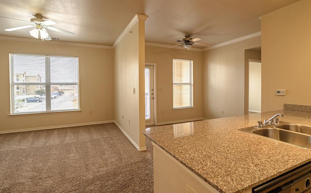 Blue Ridge Apartments unit living space